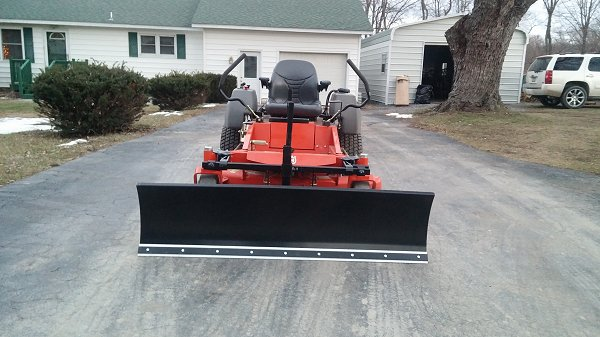 husquevarna zero turn snow plow